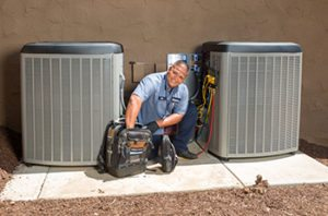mauzy technician doing ac repair in san diego ca