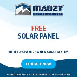 mauzy heating air and solar free solar panel with new solar system