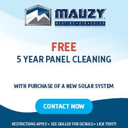 mauzy heating air and solar 5 years free solar panel cleaning with new solar system