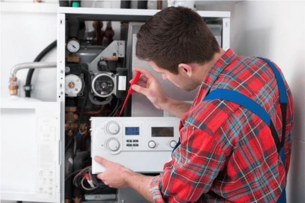 A Mauzy HVAC technician can measure & adjust the pressure of your gas manifold if needed.