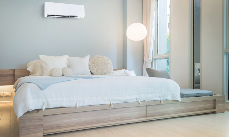 A San Diego resident has a Mauzy technician install a Ductless AC Unit in their home that didn't have the traditional ac ductwork; an affordable option for homeowners.