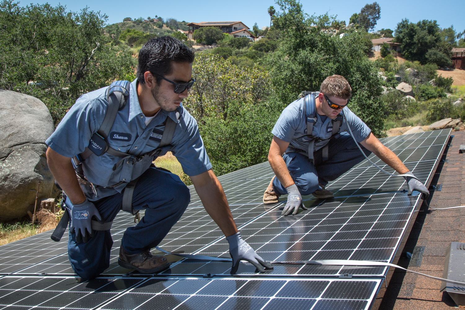 Solar panels installed by Mauzy, a great investment for your San Diego home.